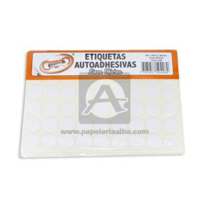 rotulo Autoadhesivo Linea Oficina Circular 16mm 648 Rotulos Imprentar blanco