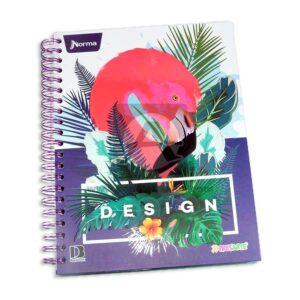 universitaria agenda Design Xpresarte Norma Grande 5 materias Argolladas femenino
