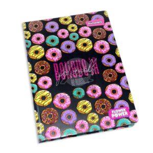 universitaria agenda Flower Power Donuts Primavera Pequeña 5 materias Cosida pasta dura femenino