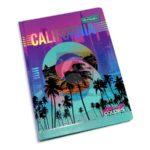 universitaria agenda  Solid Colors California Primavera Pequeña 7 materias Cosida pasta dura femenino