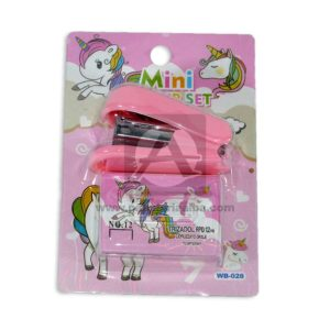 Cosedora Mini Con Grapas Longas Rosado femenino 1 unidad