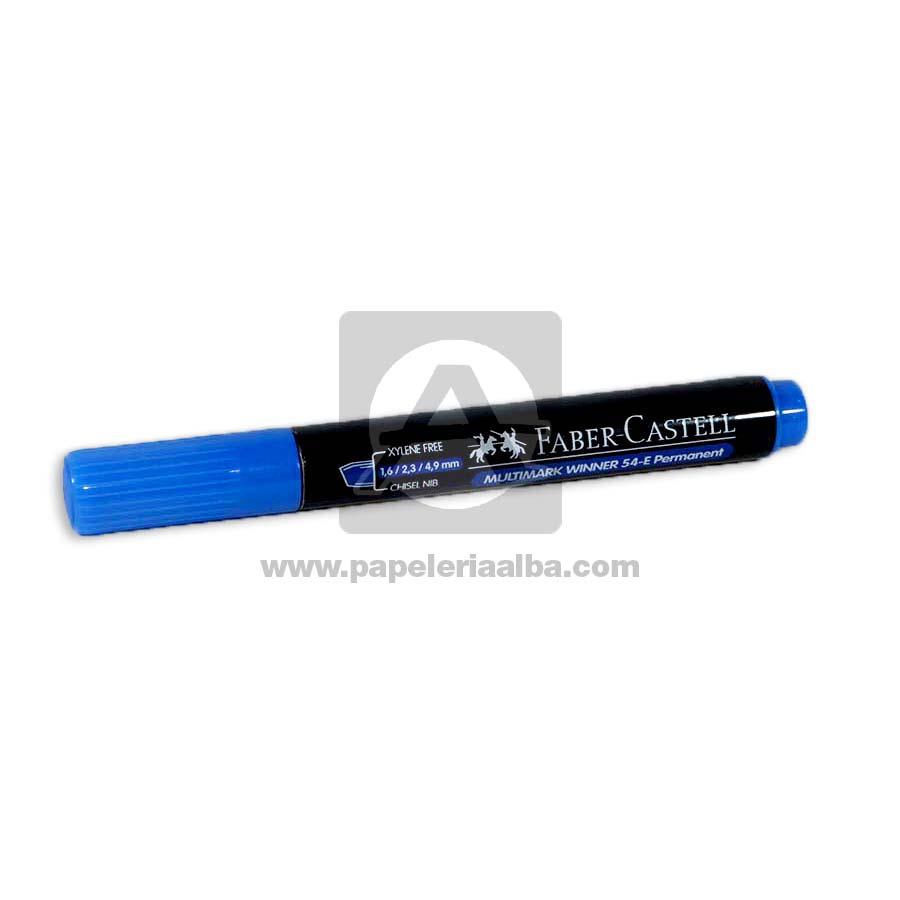 Permanentes marcador  Winner 54 N°002 faber castell Azul 1 unidad