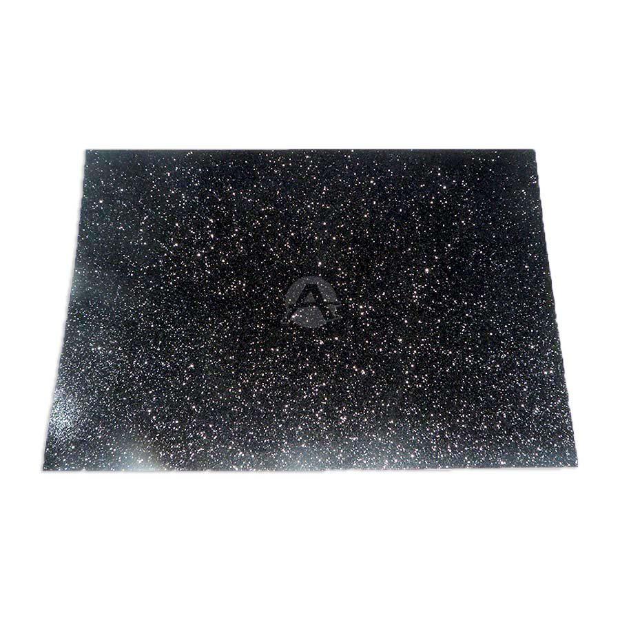 Espuma de Manualidades   Foamy Goma Formas y colores Escarchado Negro Octavo