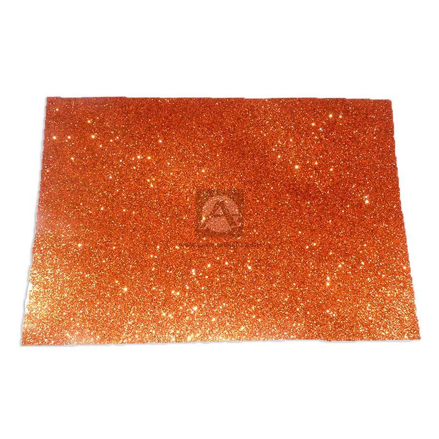 Espuma de Manualidades   Foamy Goma Formas y colores Escarchado naranja Octavo