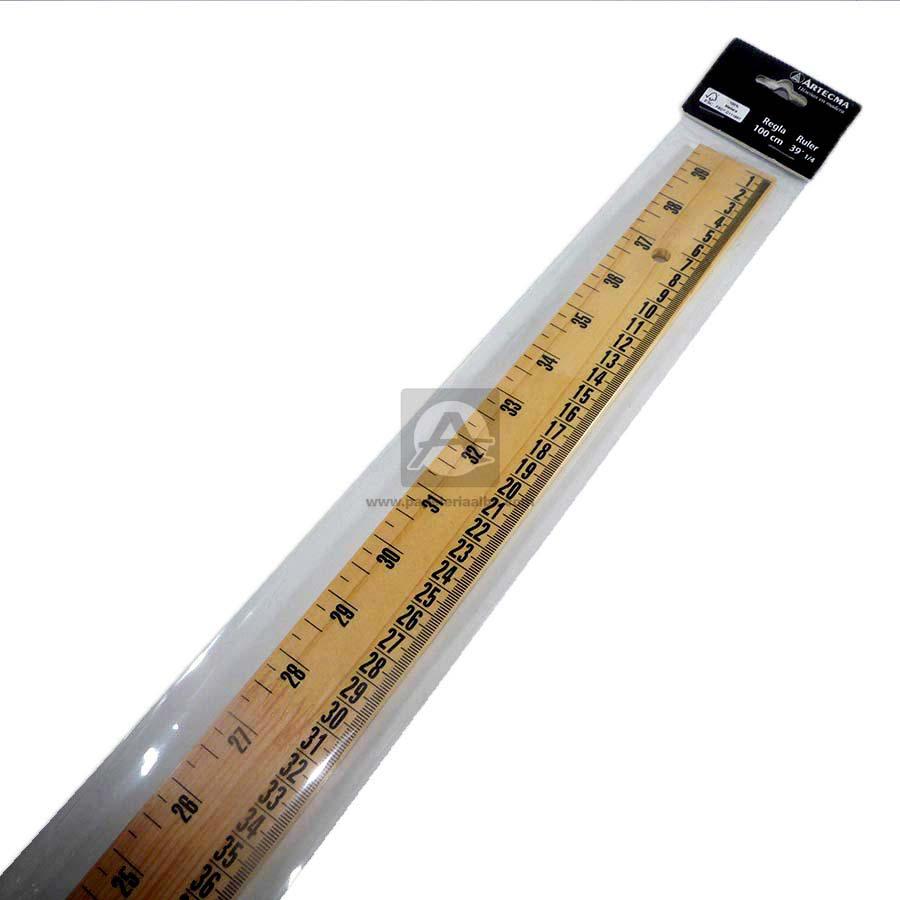 regla  Fina Artecma 100 cm Madera