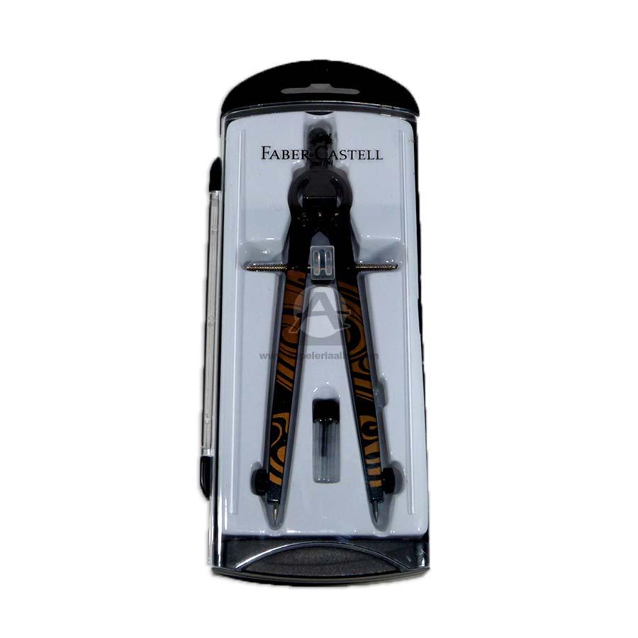 compas  de precisión en caja plástica faber castell Metálico 1 unidad