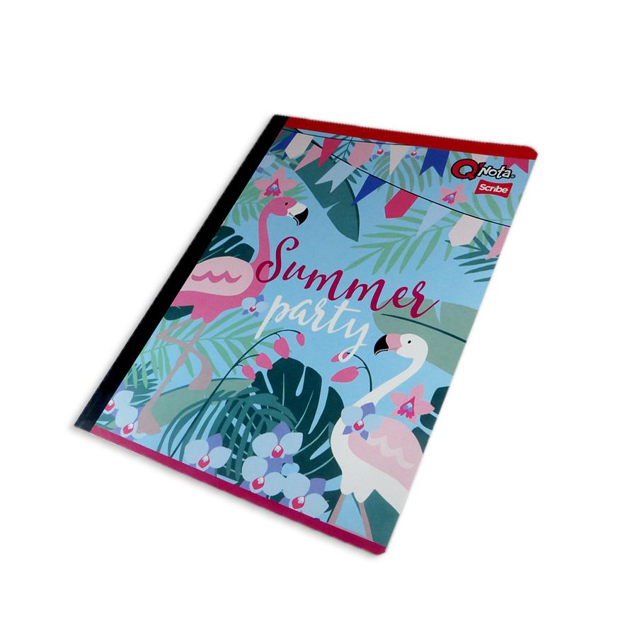 cuaderno cosido económico  QNota De Flamencos Scribe cuadriculado 50 hojas Grande femenino