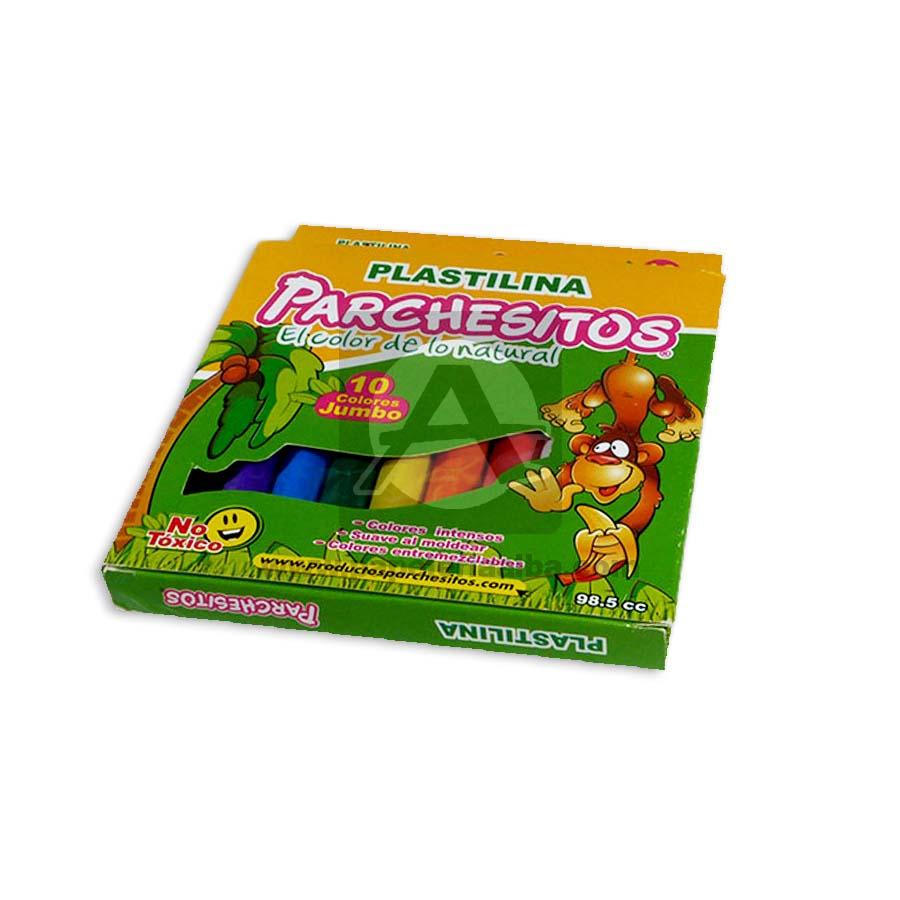 plastilina  Jumbo Económico  Parchesitos 10 unidades Pequeño