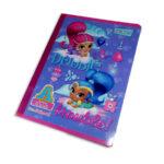 cuaderno cosido  Preescolar Tipo A Shimmer y Shine Primavera cuadrito 100 hojas Grande Niña