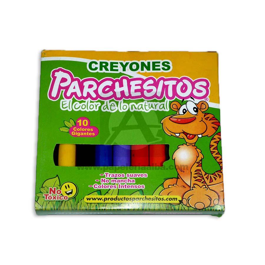 creyon  Jumbo El color de lo Natural Parchesitos 10 unidades Surtido Grande