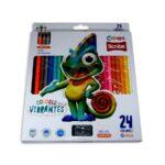 color  vibrante Scribe 24 unidades Unipunta + Tajalapiz