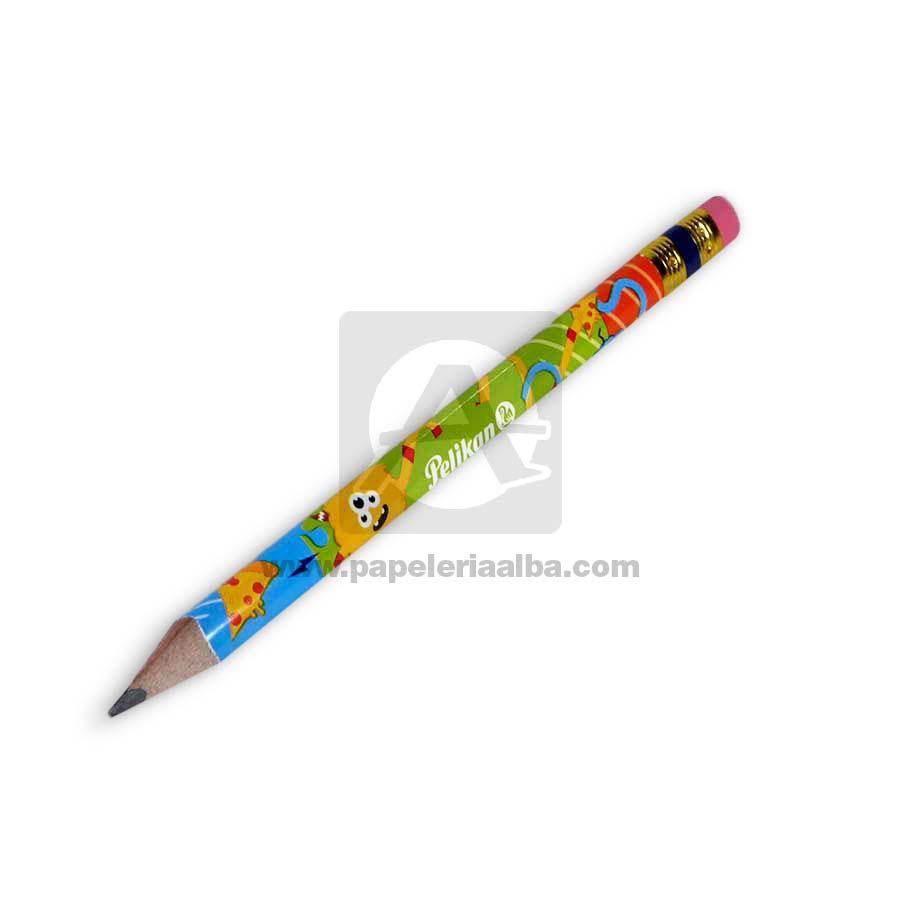 lápiz  Escolar Estampado Jumbo Pelikan Grueso Negro