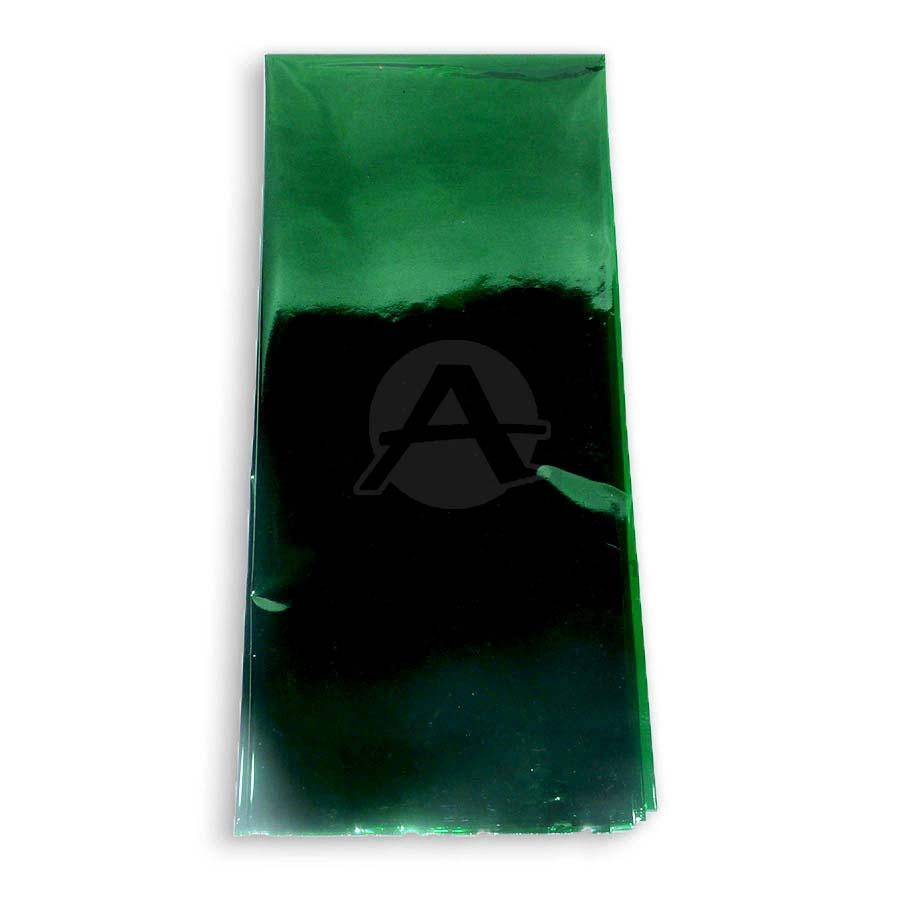 papel  cristal delgado al calor por pliego  verde
