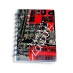 cuaderno argollado  mini anotaciones Crazy's Love Pequeño cuadriculado masculino