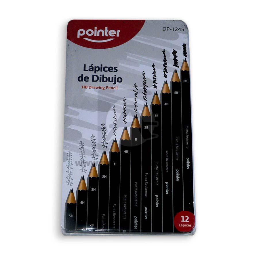 lápiz dibujo  Graduado en caja metálica DP-1245 Pointer 12 unidades