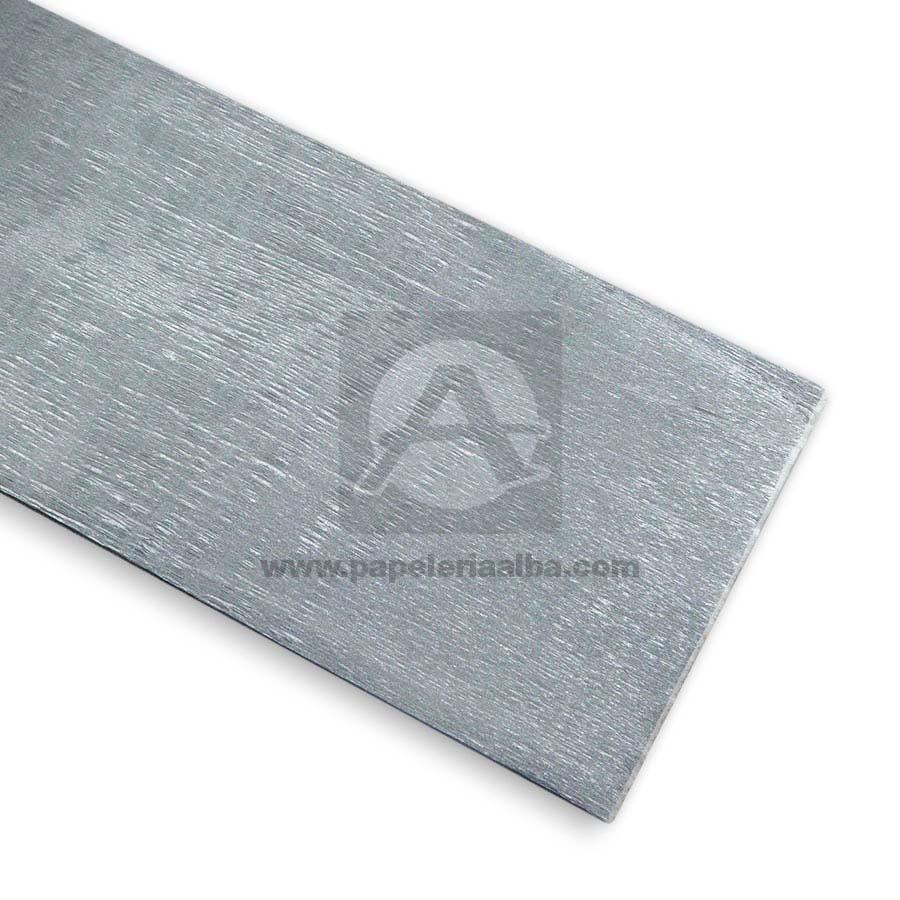 papel  crepe por pliego  Metalizado Plateado