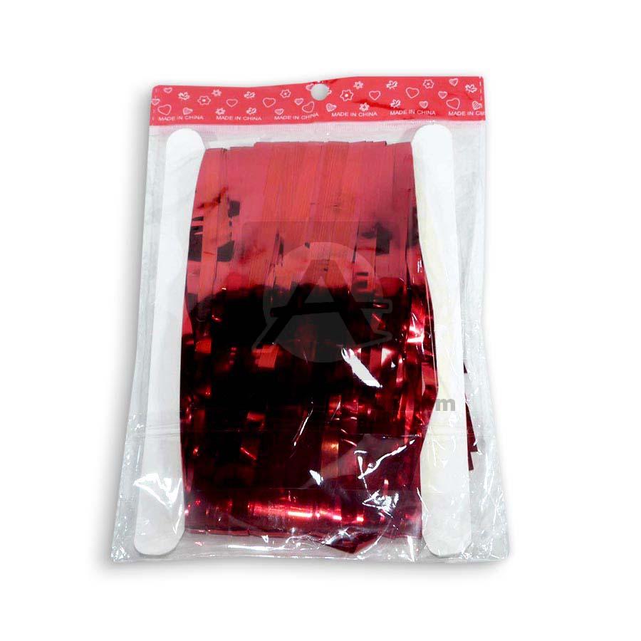 cortina  metalizada Caprichos Rojo 80x180cm