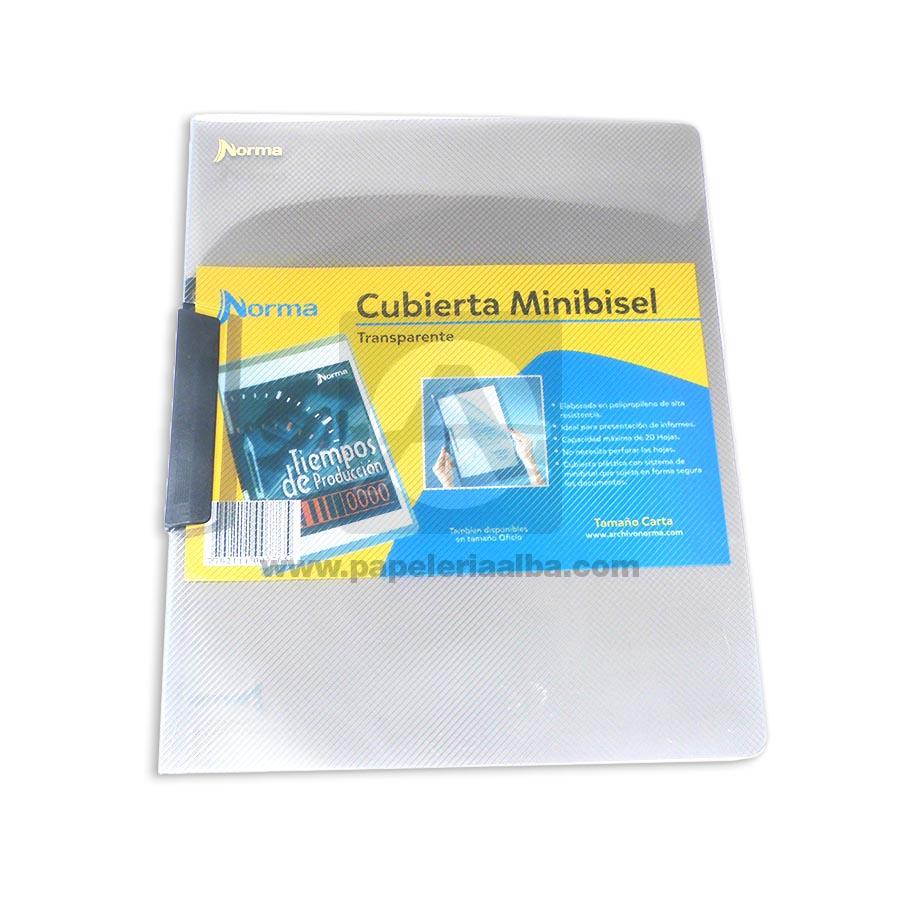 carpeta  Minibisel Carta  Norma Negro Plástica