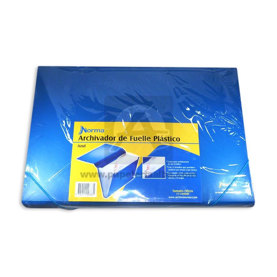 carpeta  fuelle 13 Bolsillos  Norma Azul Plástica